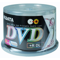 50 Dvd+r Dl 8.5gb 8x Printable Ridata Dual Layer