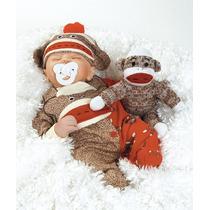 Monkey Boneco Dormindo Tipo Reborn + Enxoval Acessórios