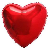Kit Com 50 Balões Liso Coração Vermelho De 18 R$ 2,09 Unit