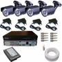 Kit Vigilância Para Casa E Comercio 4 Câmeras- Kit Completo