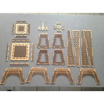 Torre Eiffel Mdf Cru Desmontada 2 Metros C/corte Laser
