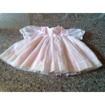 Vestido Para Bebê Anos 70 Pertin Sassy Importado Cor Rosa