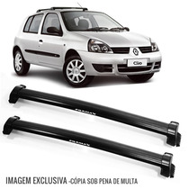Rack Bagageiro Clio Hatch 00 /14 2 Pts Eqmax Wave Preto 6145