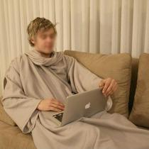 Cobertor Com Mangas Em Soft - Adulto - Nude - Endy V