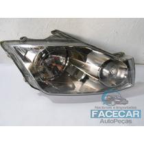 Farol Ford Eco Sport 2007 Até 2011 Fume Mascara Negra