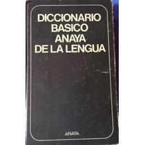 Livro - Diccionario Basico Anaya De La Lengua