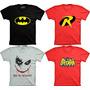 Camiseta Super Heroi Batman Robin Coringa Wy So Serios Heroi
