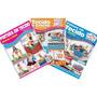 Kit 3 Revistas Pintura Em Tecido E Croche Bonecas Cestas E +