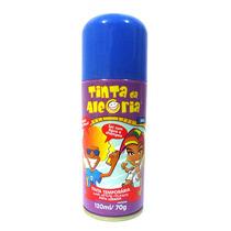 Spray Colorir Cabelos Tinta Da Alegria Carnaval Azul