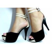 Sandalia Femininas Social Lindas Luxo Scarpins Ankle Boots