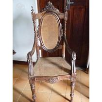 Par De Cadeiras De Braço Ou Poltronas Em Jacarandá Império