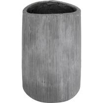 Vaso Gray Grande Em Fibra De Cimento
