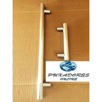 Puxador Duplo Para Porta Em Alumínio Fosco 60cm