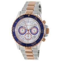 Relógio Michael Kors Mk5794 Prata, Azul E Rose Frete Grátis