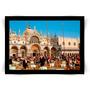 Pôster Com Moldura Preta Veneza, Piazza San Marco Médio