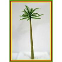 Pc1- 10 Unidades Arvore Palmeira 10cm Ho 1:87 Maquete