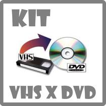 Conjunto Básico Faça Você Mesmo Conversão De Vhs Para Dvd!