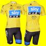 Conjunto Sky Camisa 3 Bolsos Bermuda Acolchoada