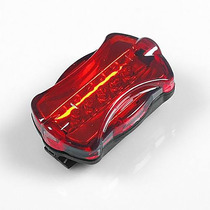 Lanterna Traseira Segurança Para Bicicleta 5 Led Luz 6 Modos