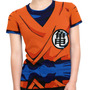 Camiseta Baby Look Goku Dragon Ball Z Fantasia Estampa Total