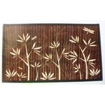 Lugar Americano Bambu Marrom Floral Bl