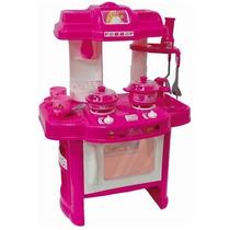Conjunto Cozinha Divertida Da Barbie C/ Fogão Luz E Som