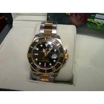 Relógio Submariner Prata Preto Safira Acab. Eta Cx Manual