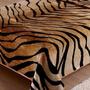 Cobertor Casal Tigre Bege Corttex Toque Macio E Antialérgico