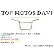 Guidão Moto Motoboy Titan 150 Cromado Sem Fixa Peso - 3719