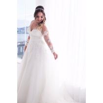 Vestido Noiva Pronovias Mayra Com Mantilha E Saiote