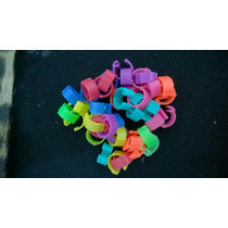 Anilhas 8mm Para Pombos Faisão Fecho Clik Coloridas 40 Un