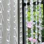 Cortina De Miçangas E Contas Acrilicas Cristal Transparente