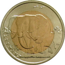 Turquia - 1 Lira 2009 (bimetálica) Elefante