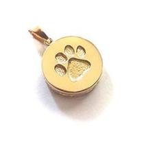 Pingente De Ouro 18kl Patinha De Cão Com Corrente 45 Cm