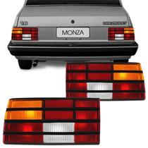 Lanterna Monza 88 89 90 Tricolor Friso Preto Traseira Tuning