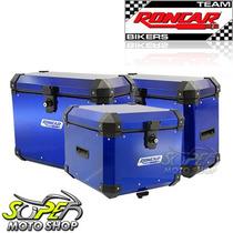 Kit Bauleto Traseiro + Lateral + Suporte Tenere 660 Azul