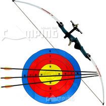 Arco Flecha Nautika Xavante Fibra 48 Libras + Flechas + Alvo