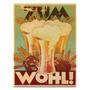 Quadro Em Canvas Pôster Vintage Cerveja - 32x24 Cm