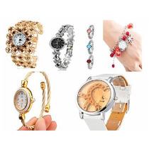 Relógio Femininos/braceletes - Vários Modelos - Kit 10 Unids