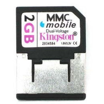 Cartão De Memoria Kingston Rs-mmc 2gb Com Adaptador
