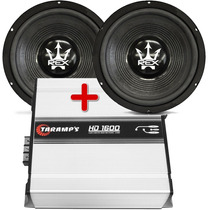 Kit 2 Subwoofer Magnum 12 800 + Amplificador Taramps Hd 1600