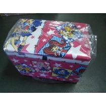 Bau Puff Caixa P/ Brinquedos Roupas Ou Sapatos Monster High