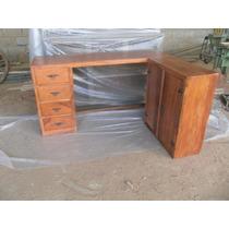 Mesa Para Computador Com Armario De Arquivo