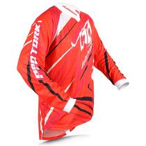 Camisa Pro Tork Insane 3 Red Motocross Esportiva Trilha