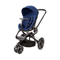 Carrinho De Bebê Quinny Moodd Stroller Azul C Suporte Preto