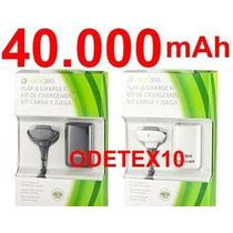 Bateria Carregador Controle Xbox 360 30.000mah +cabo + Forte