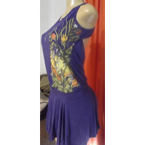 Vestido Colcci Roxo Com Estampa E Strass!!!lindo!!!