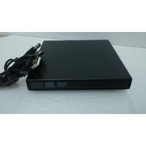 Drive Externo Slim Usb Gravador/leitor Cd E Dvd Novo Na Cx