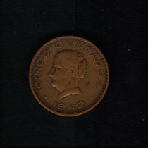 Moeda Mexico 5 Centavos 1942 Mo