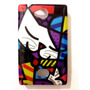 Case Romero Britto Gato Capa Nokia Asha 503 Tematica Top 3d